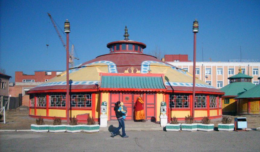 Free photo: Buddhist Monastery in Ulaanbaatar