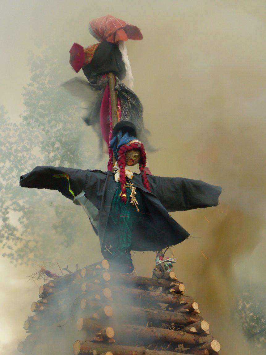 Free photo: Burning witch