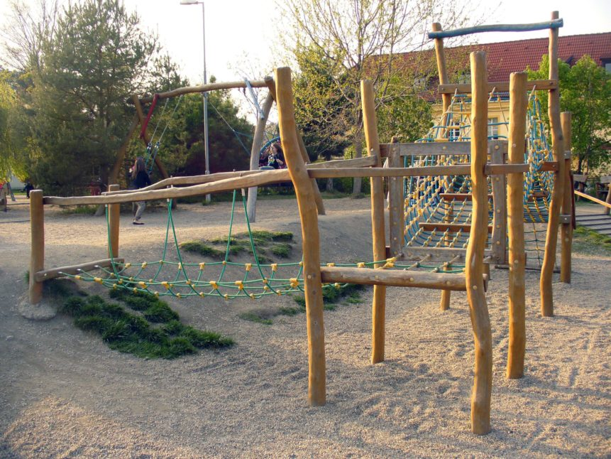 Free photo: Wooden Children Playground