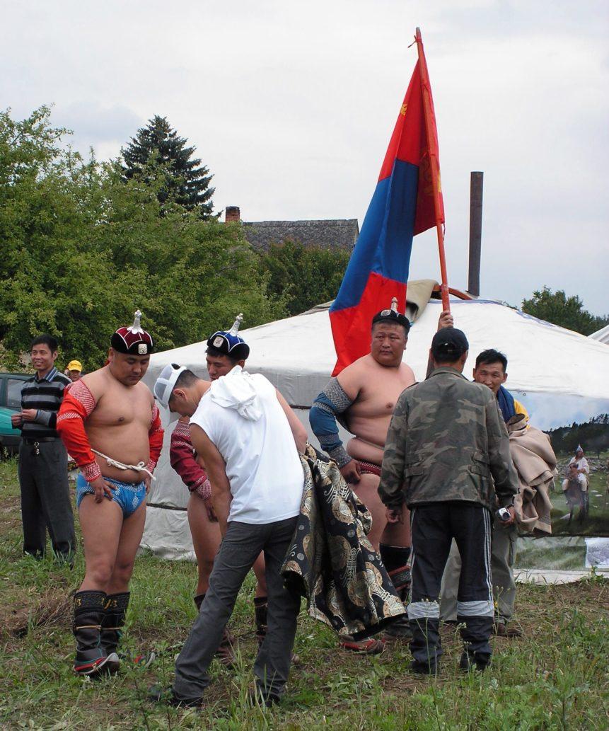 Free photo: Mongolian Wrestlers
