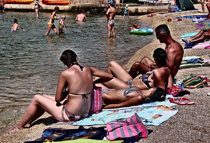 Free photo: Sunbathing on the Beach