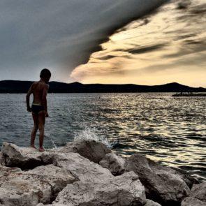Boy on a Cliff