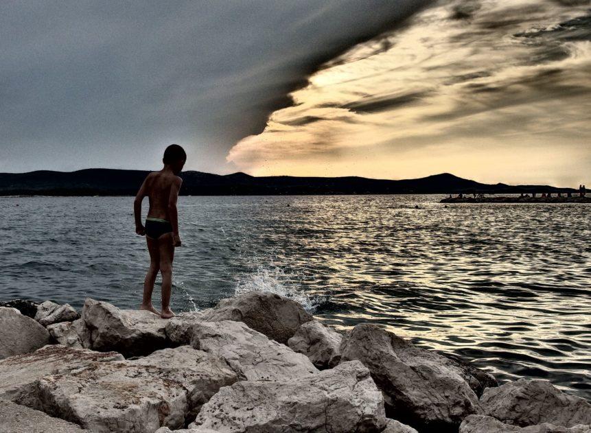 Free photo: Boy on a Cliff