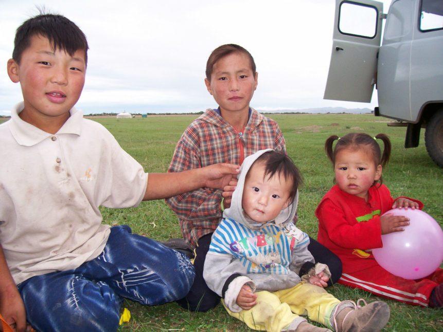 Free photo: Children In Mongolia