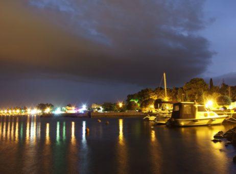 Sea Waterfront at Night