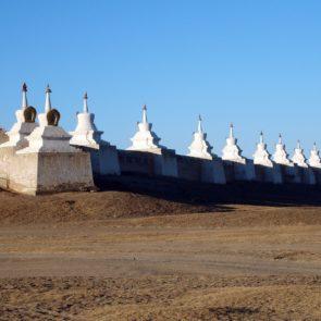 Stupa Wall in Erdene Zuu