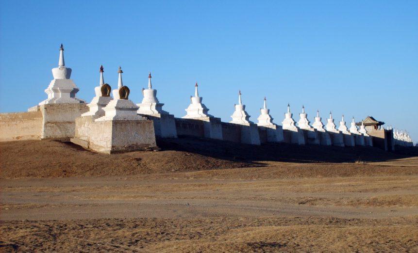 Free photo: Stupa Wall in Erdene Zuu