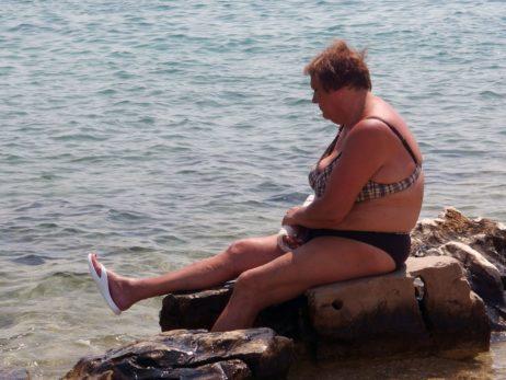 Plump Lady At Sea