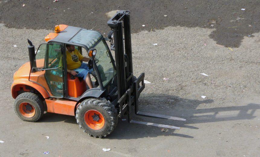 Free photo: Forklift