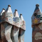 Gaudi Chimneys in Barcelona