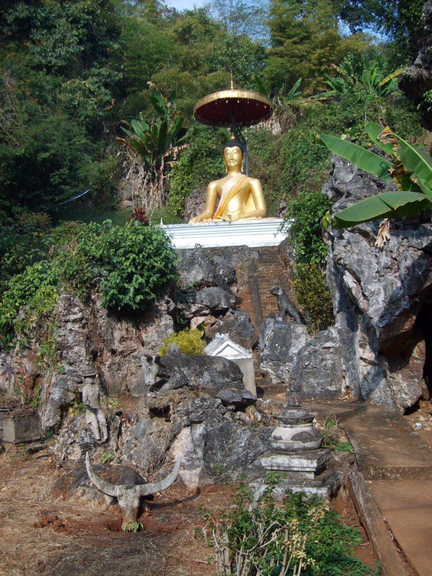 Free photo: Golden Buddha in Thailand
