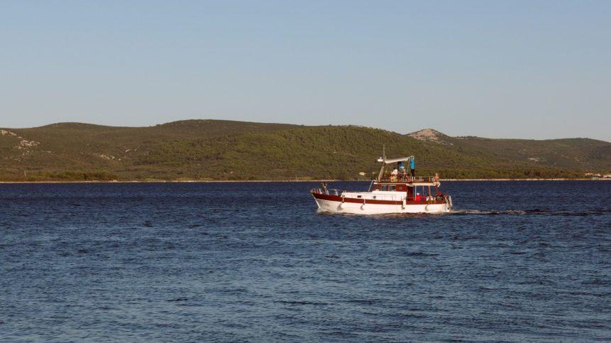Free photo: Small Boat At Sea