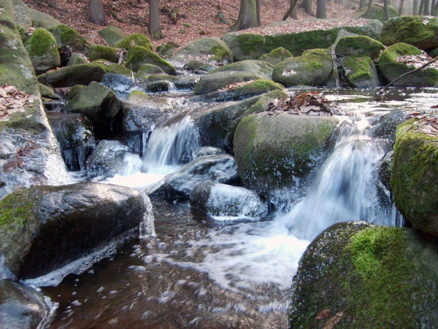 Free photo: Small Waterfall