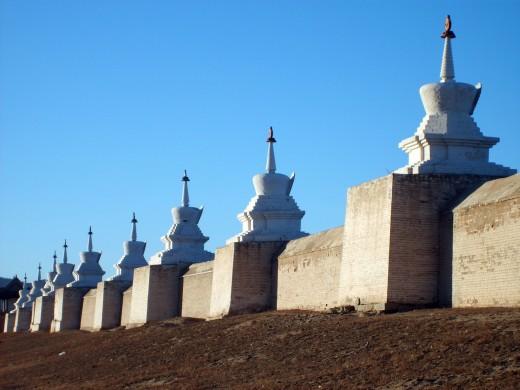 Stupa Wall Of Erdene Zuu