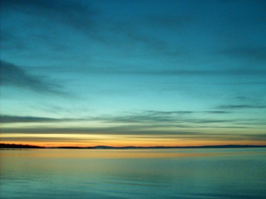 Free photo: Blue Sunset On The Lake