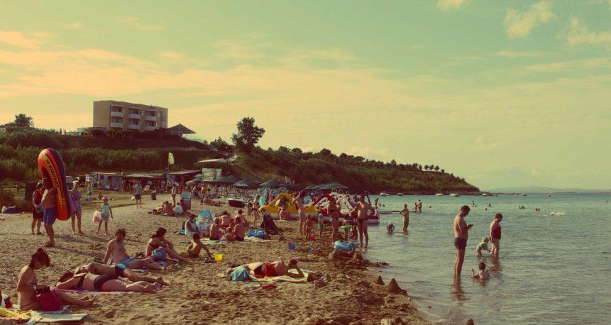 Free photo: Beach full of people