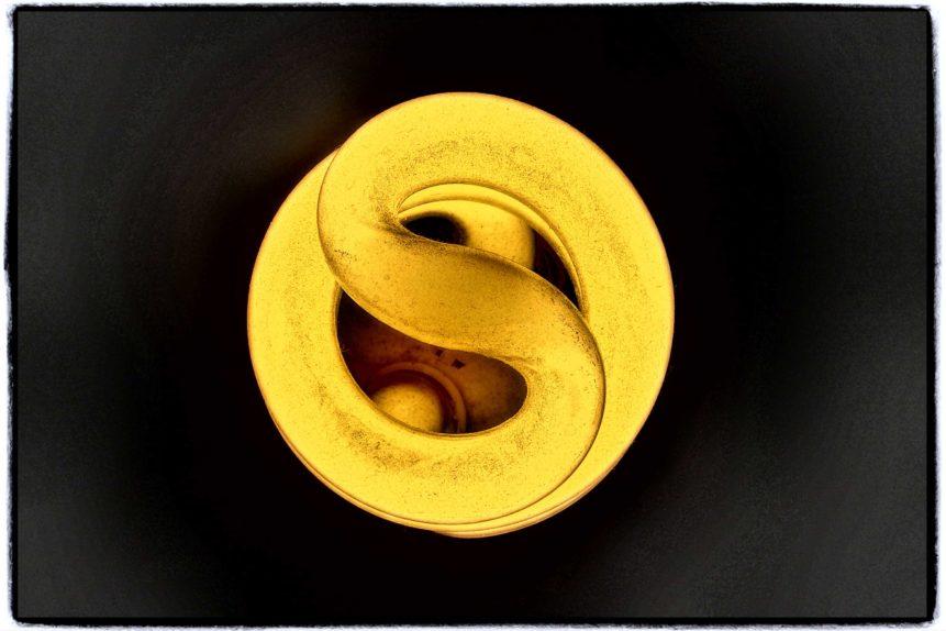 Free photo: Spiral Light Bulb
