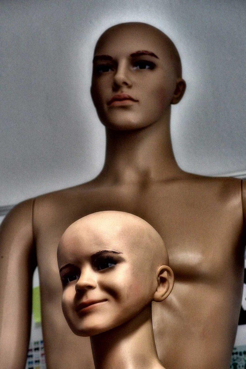 Free photo: Children and Man Mannequin