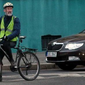 Elderly cyclist