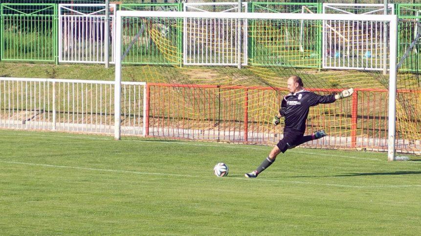 Free photo: Goalkeeper kicking the ball