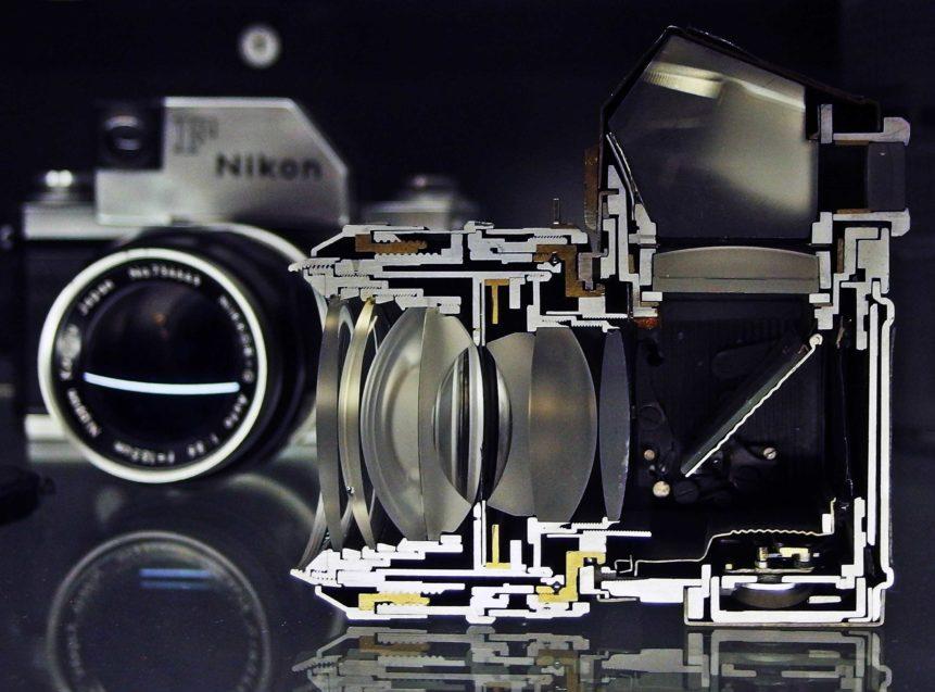 Free photo: Inside SLR Camera