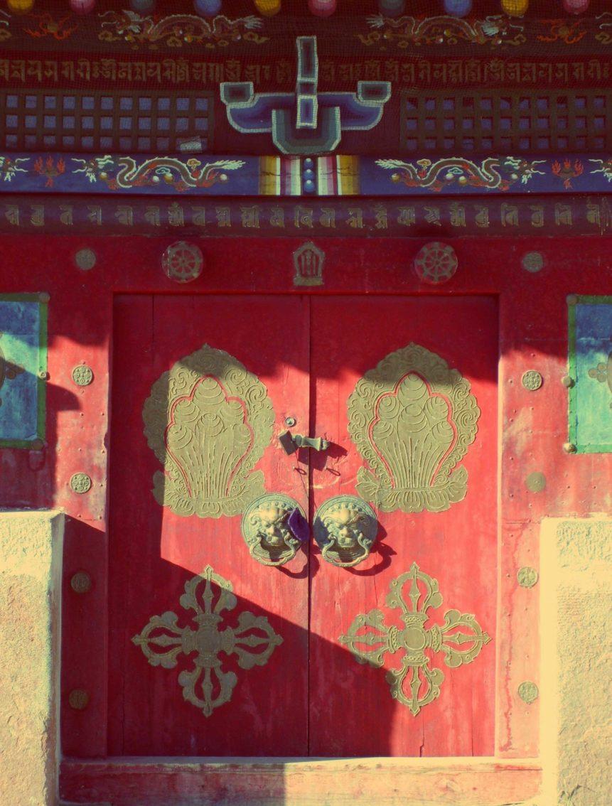 Free photo: Buddhist Monastery Door