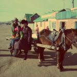 Free photo: Mongolian family with a horse