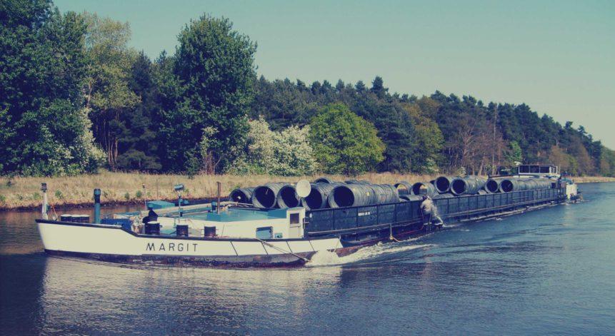 Free photo: River Cargo Vessel