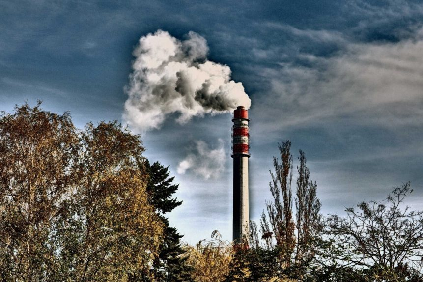 Free photo: Smoking Factory Chimney