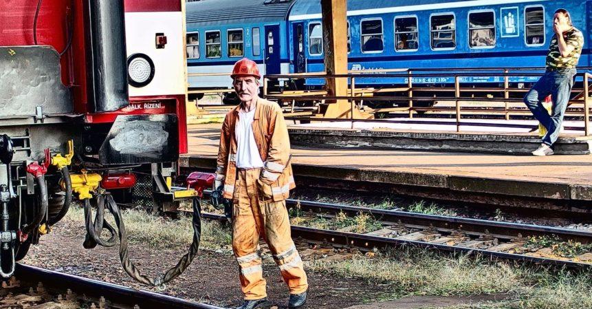 Free photo: Railway worker