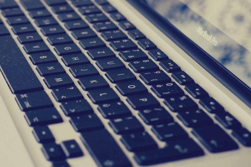 Free photo: Laptop keyboard