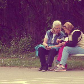 Free photo: Elderly ladies in the park