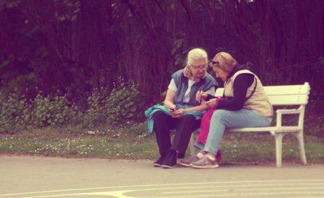 Elderly Ladies In the Park