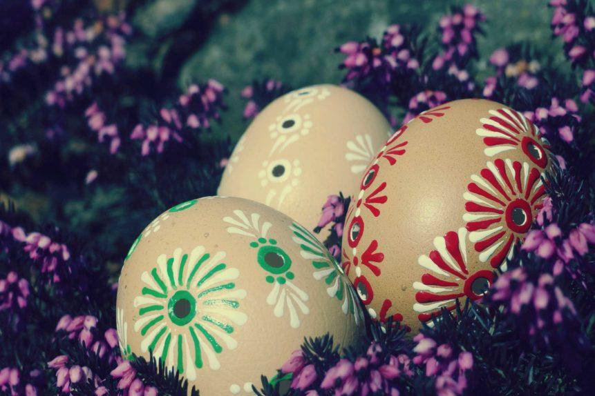 Free photo: Three Easter Eggs
