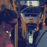 Free photo: Girl On The Bus
