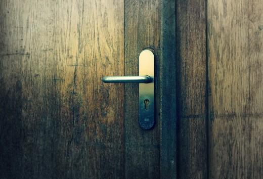 Free photo: Wooden door With Handle
