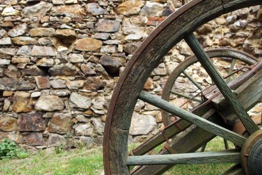 Free photo: Wooden Wheel