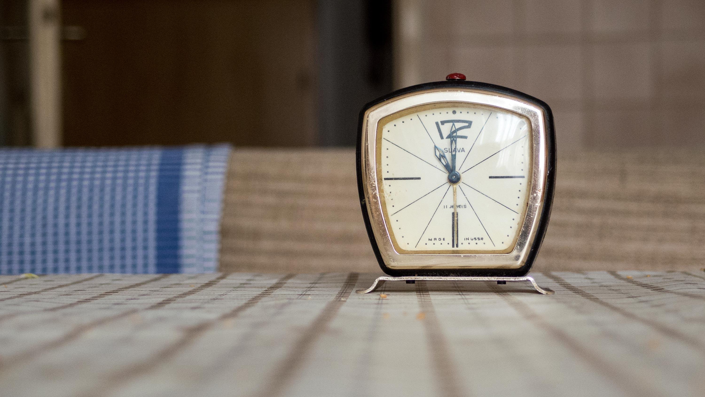 Free Image Vintage Design Alarm Clock