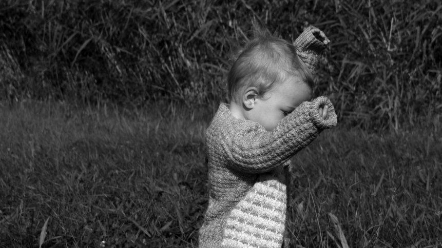 Free image: Infant B&W