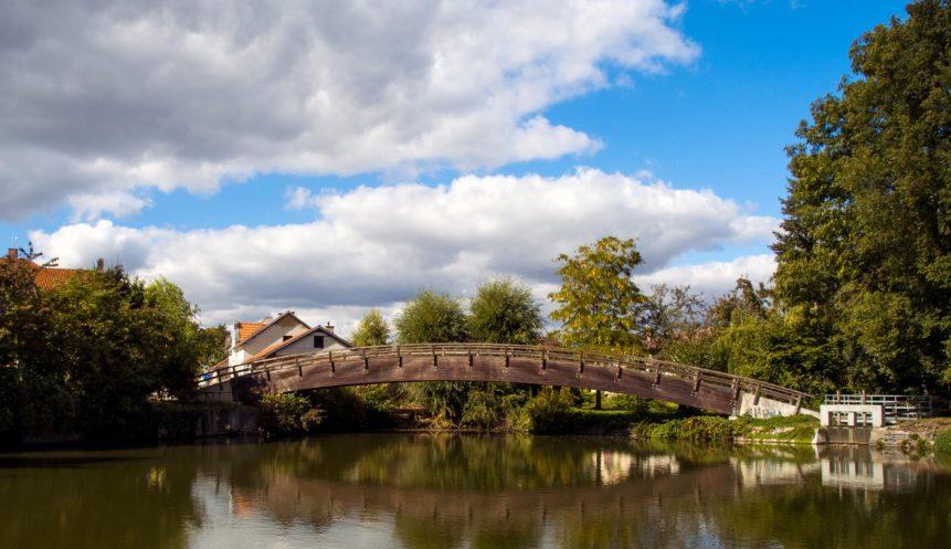 Free photo: The bridge across the pond