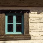 Free photo: Blue window of an old house