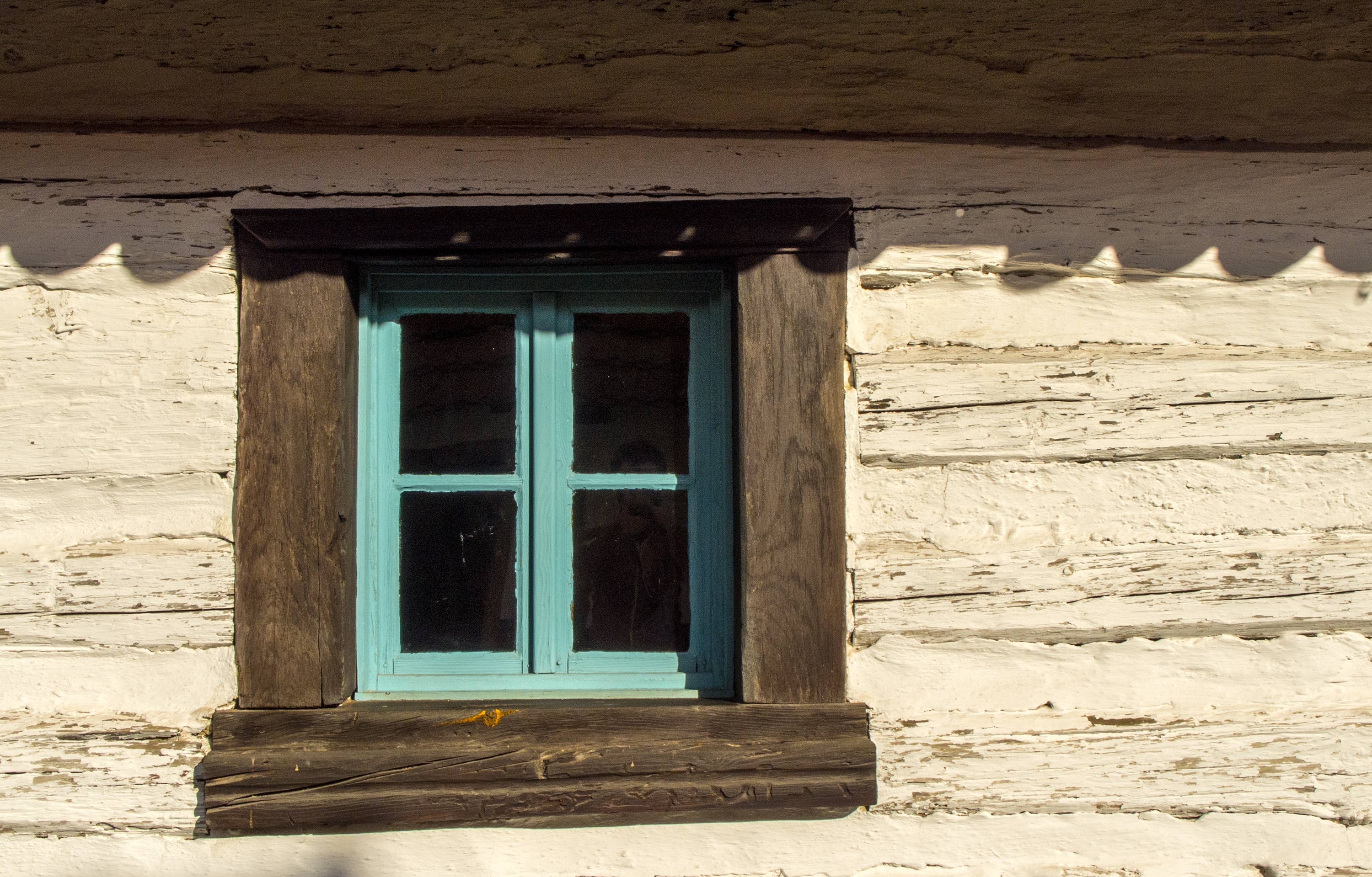 Blue Window Of An Old House Free Stock Photo Libreshot