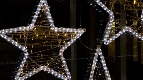 Neon Christmas Stars