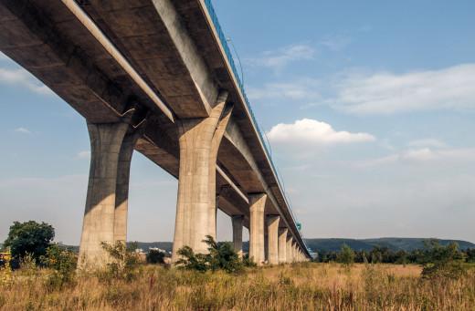 Concrete Bridge In Prague
