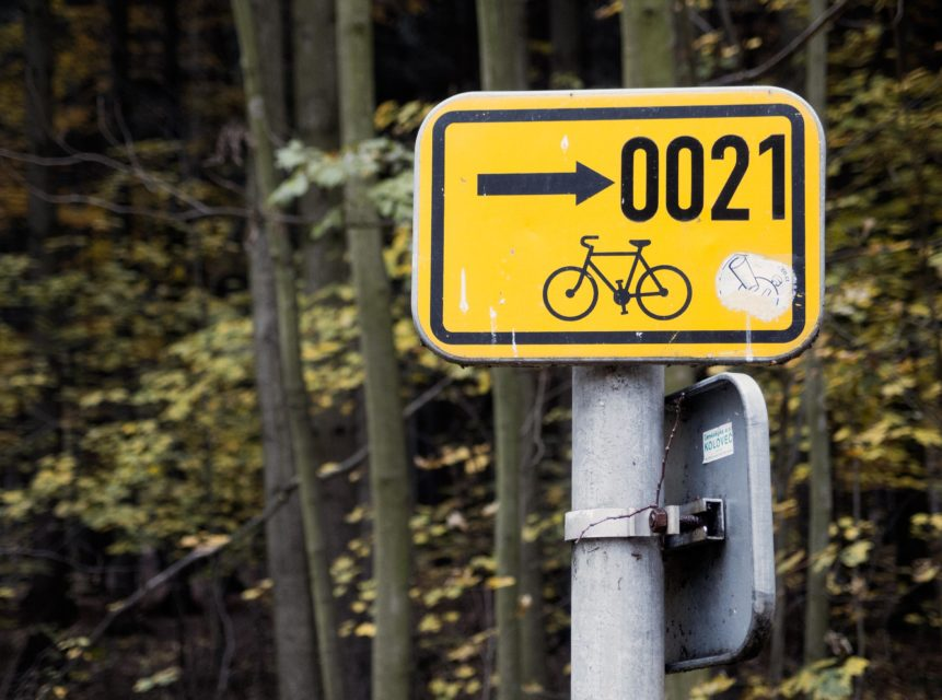 Free photo: Cycle Path Sign