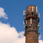 Free photo: Old brick chimney with antennas