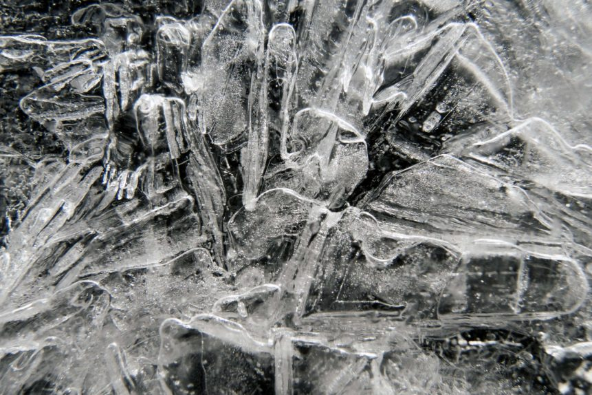 Free photo: Close-up of cracked ice texture