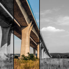 Free photo: Long Concrete Bridge