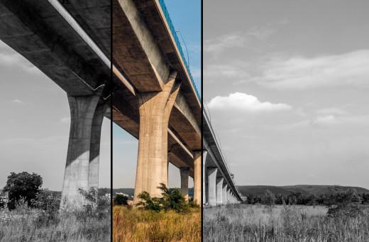 Free photo: Long Concrete Bridge
