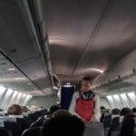 Free photo: Fflight attendant in aircraft